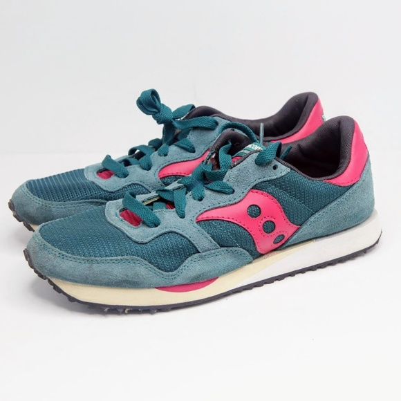 WOMENS SAUCONY DXN TRAINER BLUE GREEN